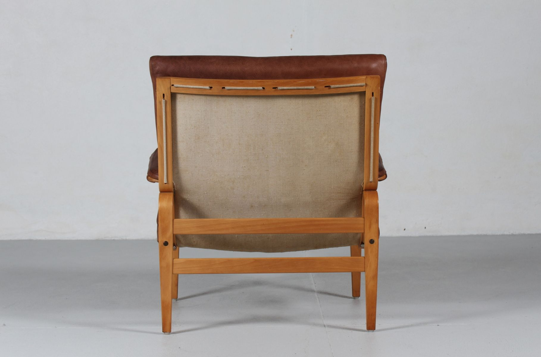 Ingrid Cognac Leather Easy Chair by Bruno Mathsson for Dux for