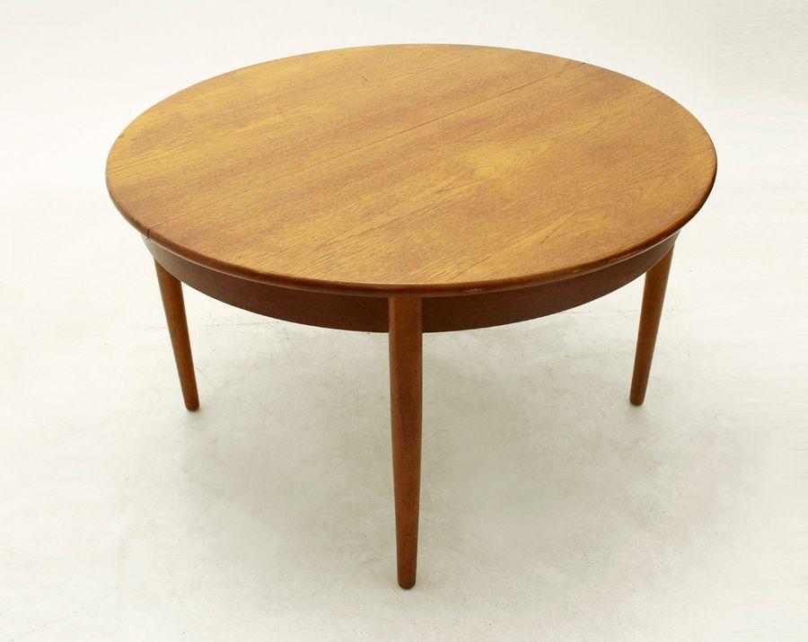 Table de salle manger mid century en teck italie 1960s for Salle a manger 1960