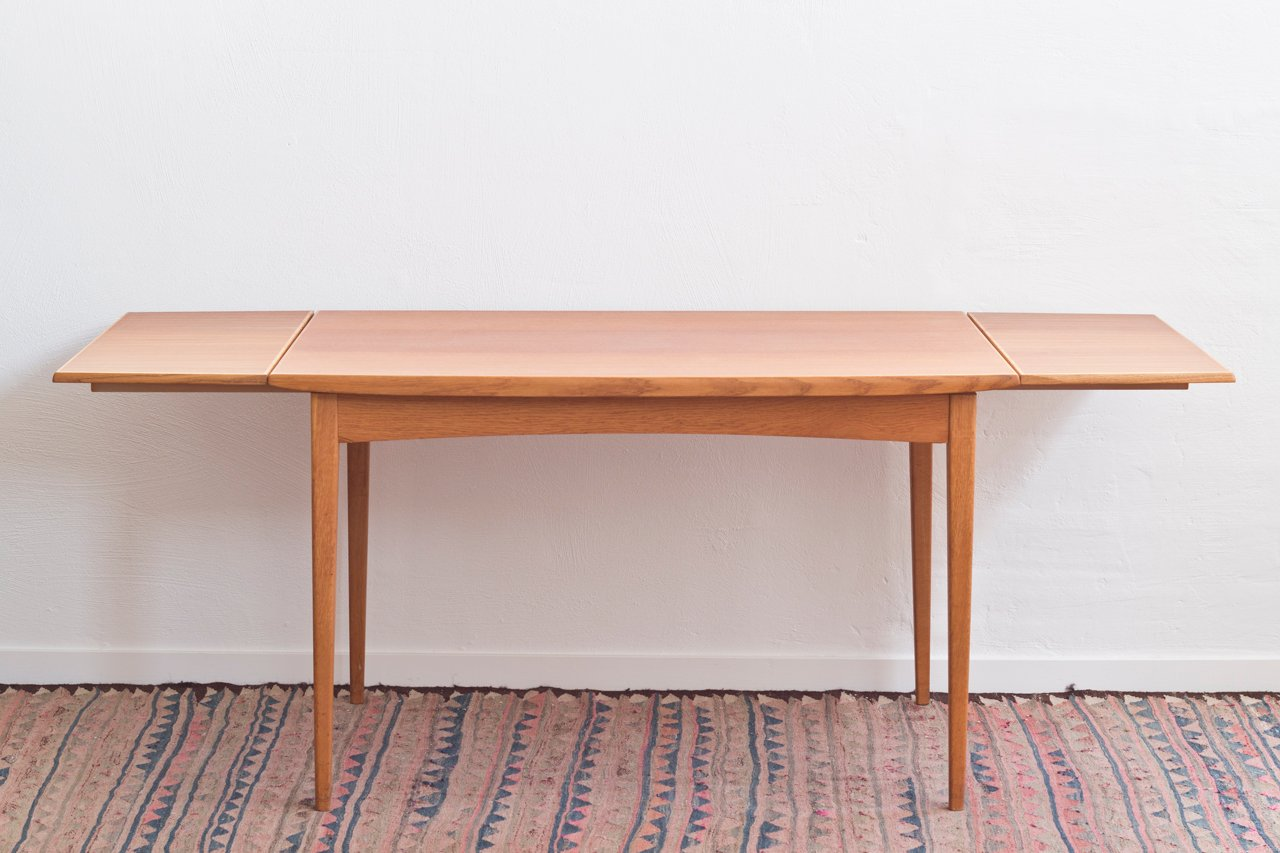 Grande table de salle manger scandinave en teck en vente for Table scandinave salle a manger