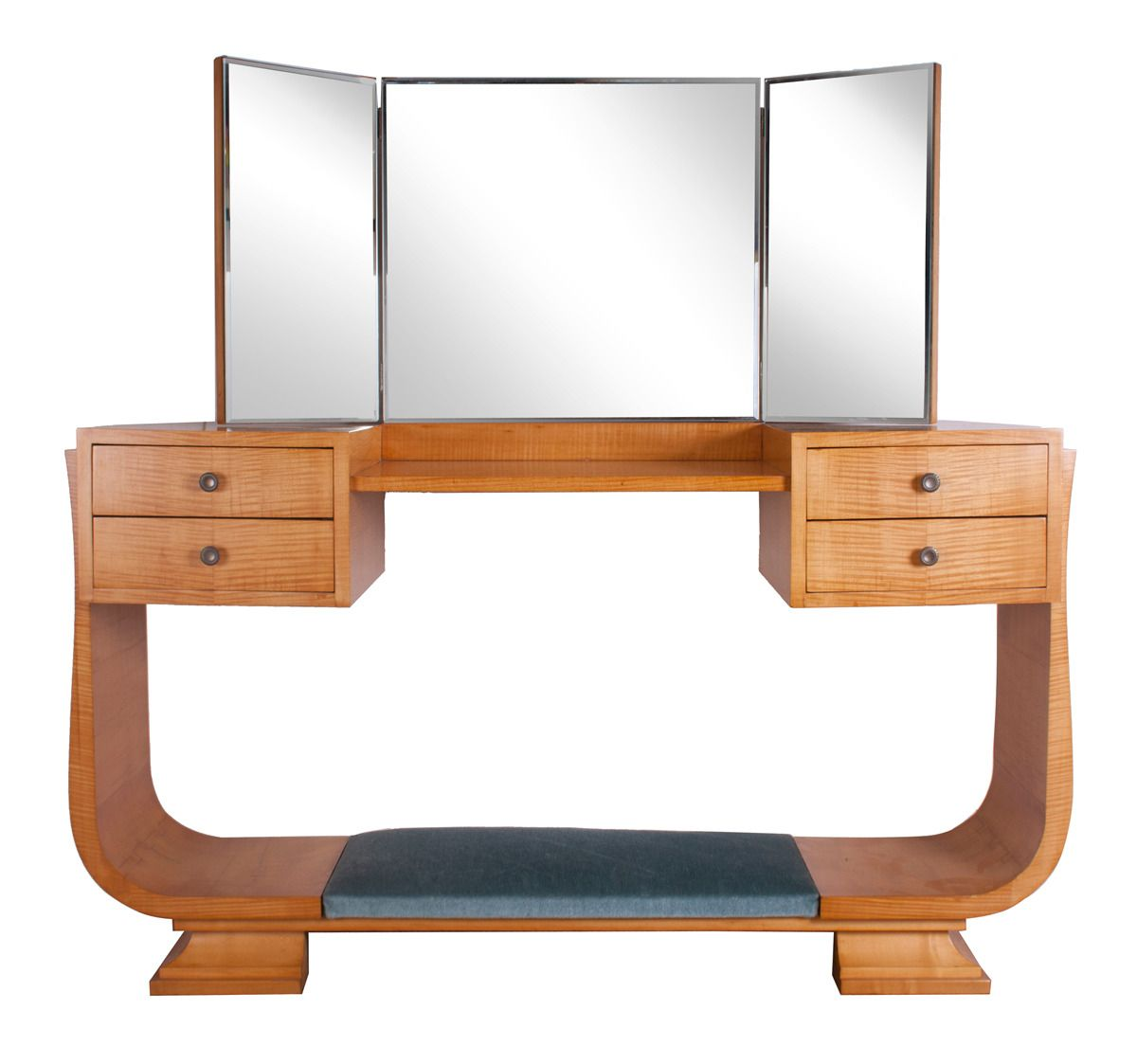 Art deco dressing table and easy chair by harry and lou epstein set of 3 for sale at pamono - Deco dressing ...