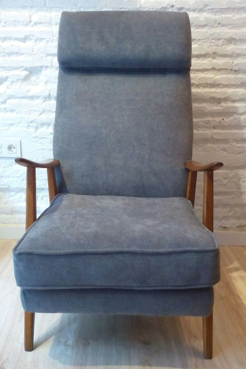 gray scandinavian armchair 1950s for sale at pamono