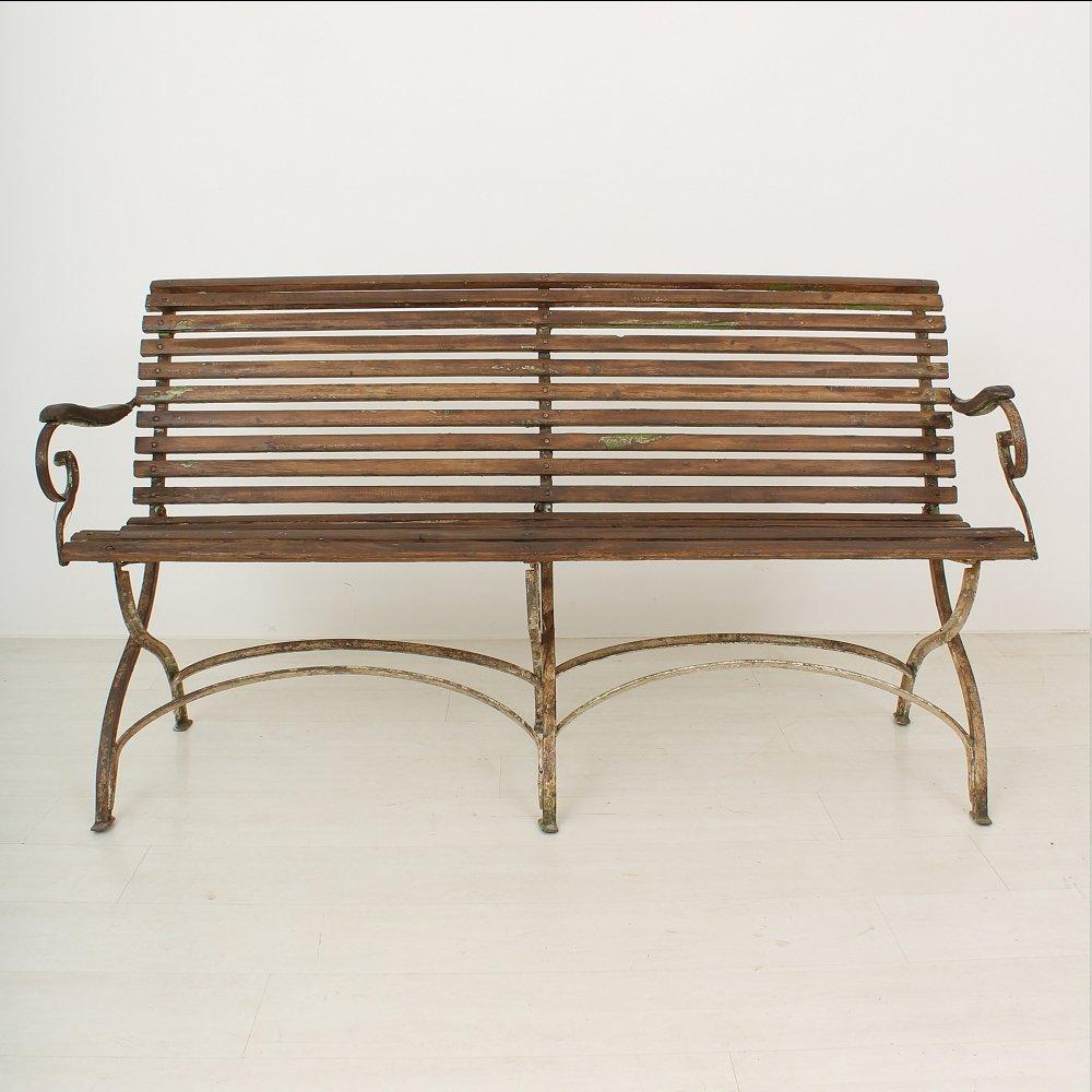 banc de jardin 1900s en vente sur pamono. Black Bedroom Furniture Sets. Home Design Ideas