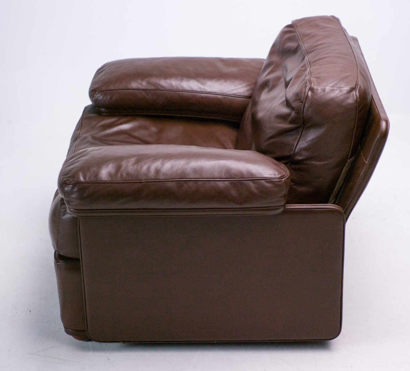 vintage sessel aus leder von tito agnoli f r poltrona frau. Black Bedroom Furniture Sets. Home Design Ideas