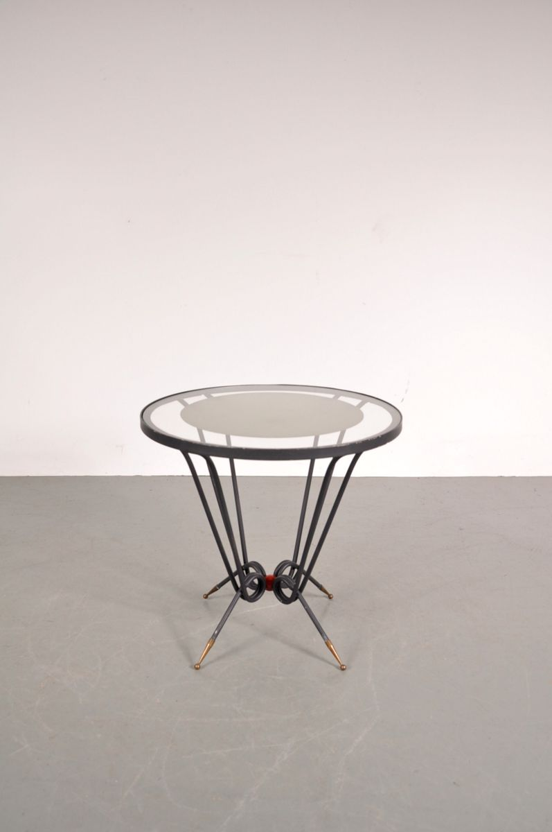 French round glass coffee table 1950s for sale at pamono for French glass coffee table