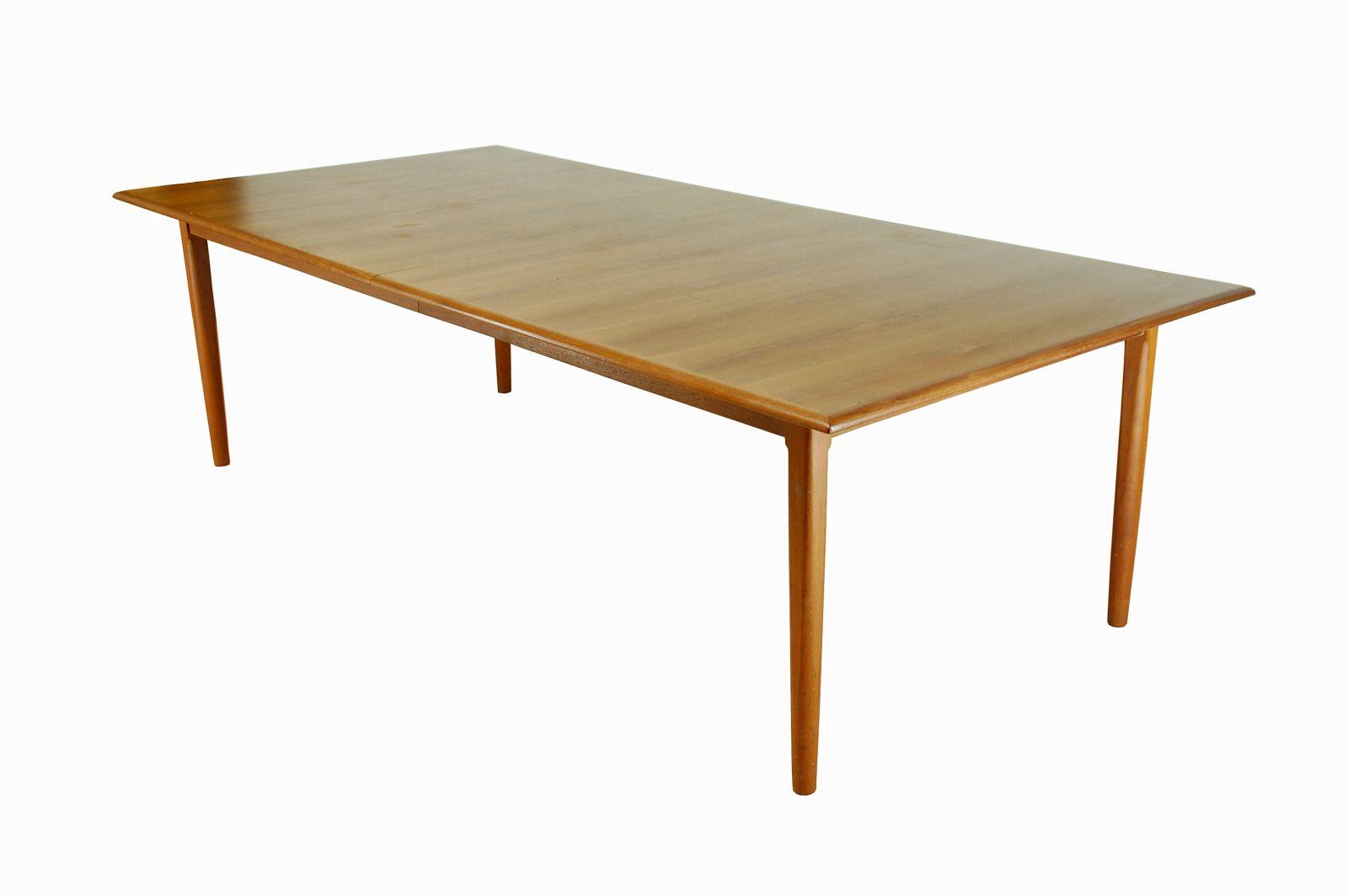 Large Vintage Danish Teak Dining Table