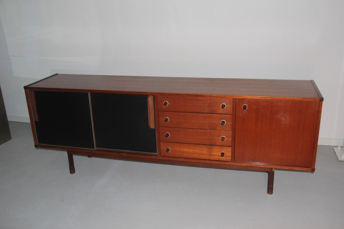 mid century mahogany sideboard from claro design 1955 for sale at pamono. Black Bedroom Furniture Sets. Home Design Ideas