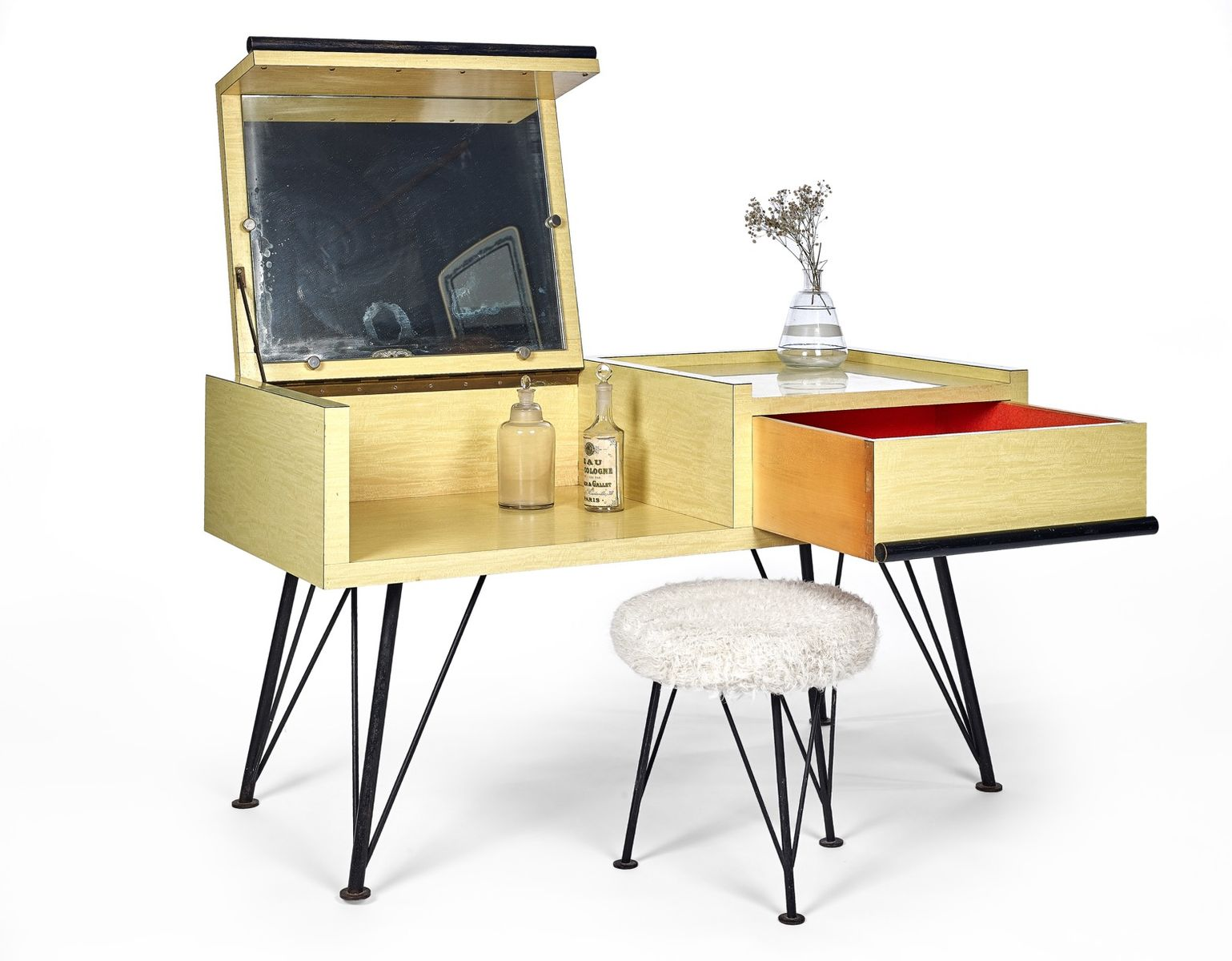 Rockabilly Dressing Table And Stool For Sale At Pamono