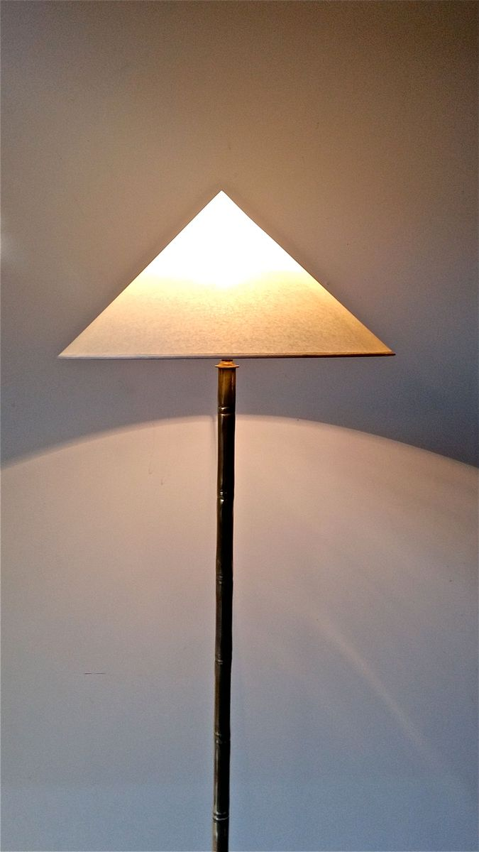 lampadaire en faux bamboo par jacques adnet 1950s en vente sur pamono. Black Bedroom Furniture Sets. Home Design Ideas