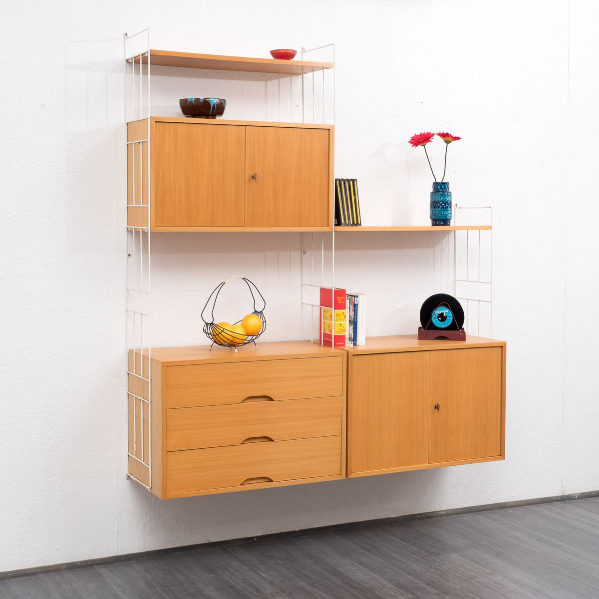 Vintage Ash Modular Shelving System from WHB for sale at Pamono