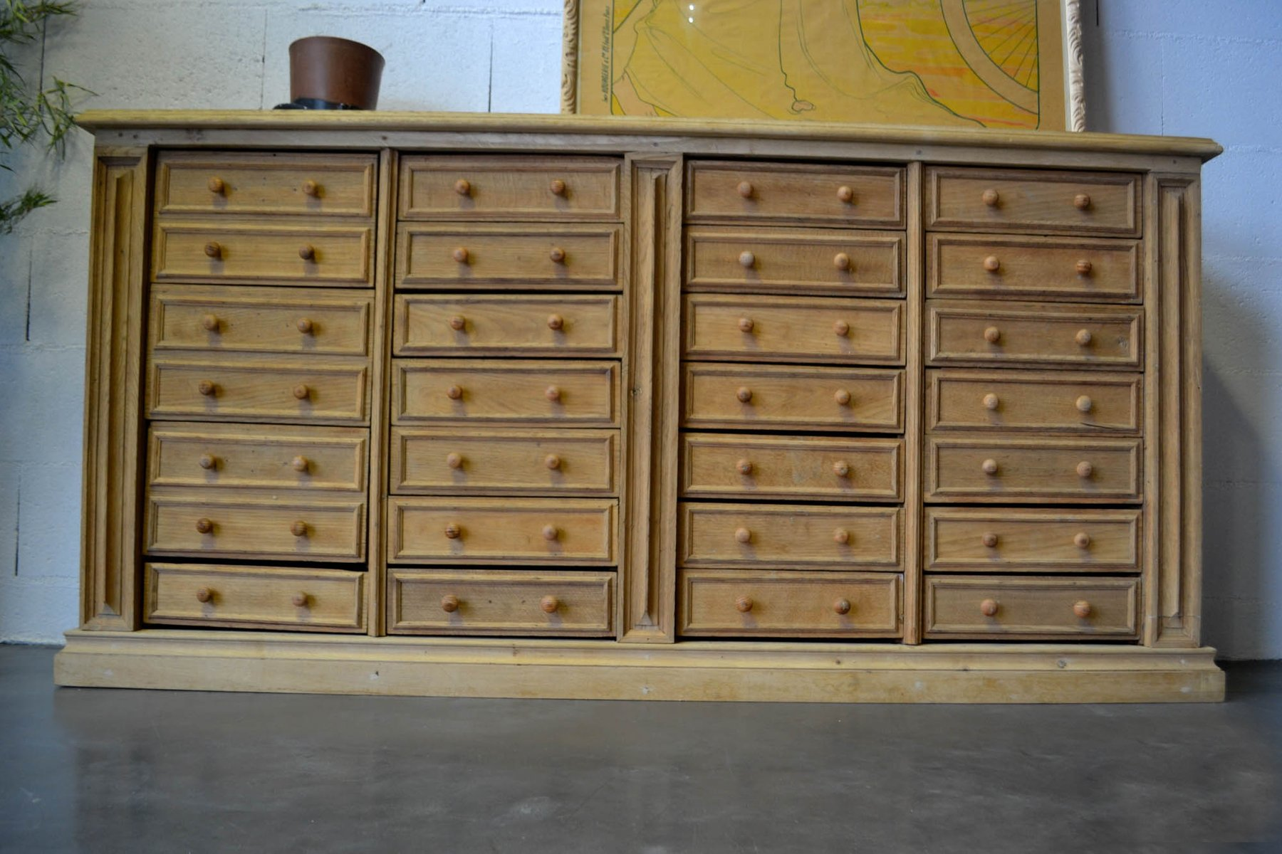 Vintage French Large Oak Chest Of Drawers For Sale At Pamono
