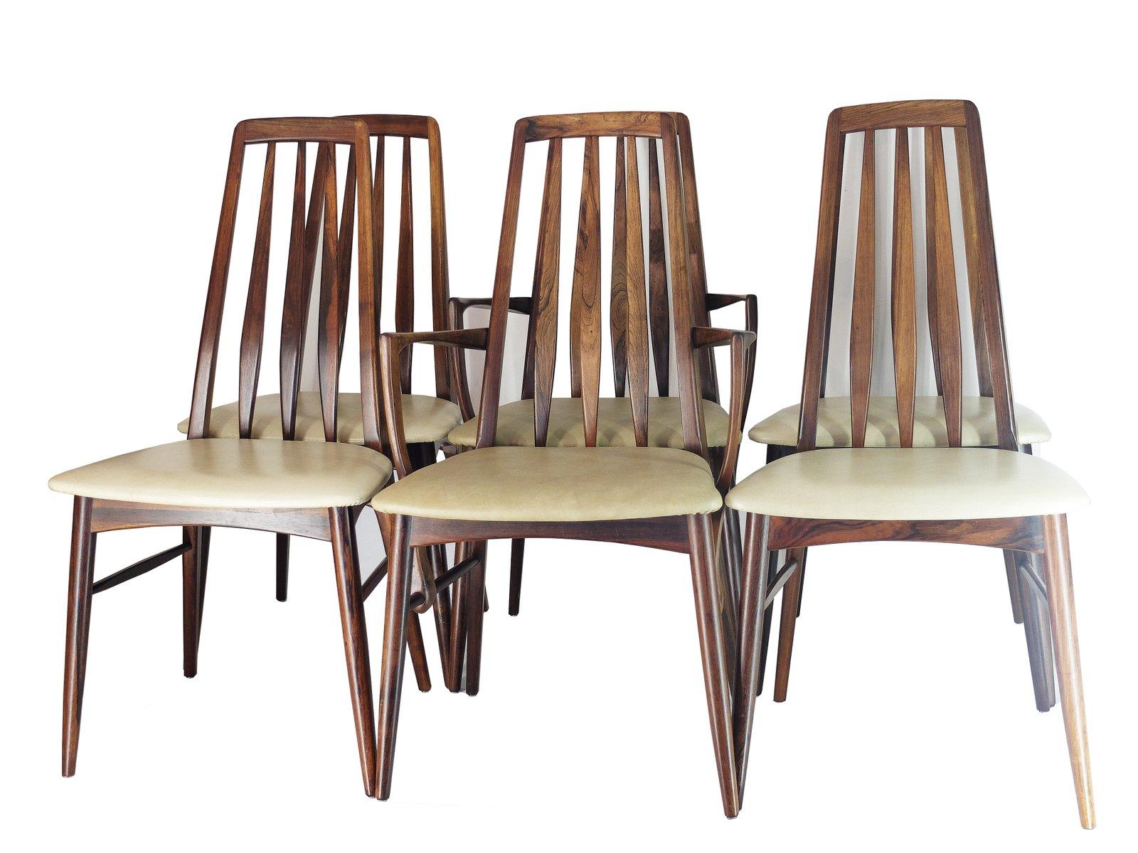 Chaises de salon eva en palissandre par niels koefoed pour koefoed ...