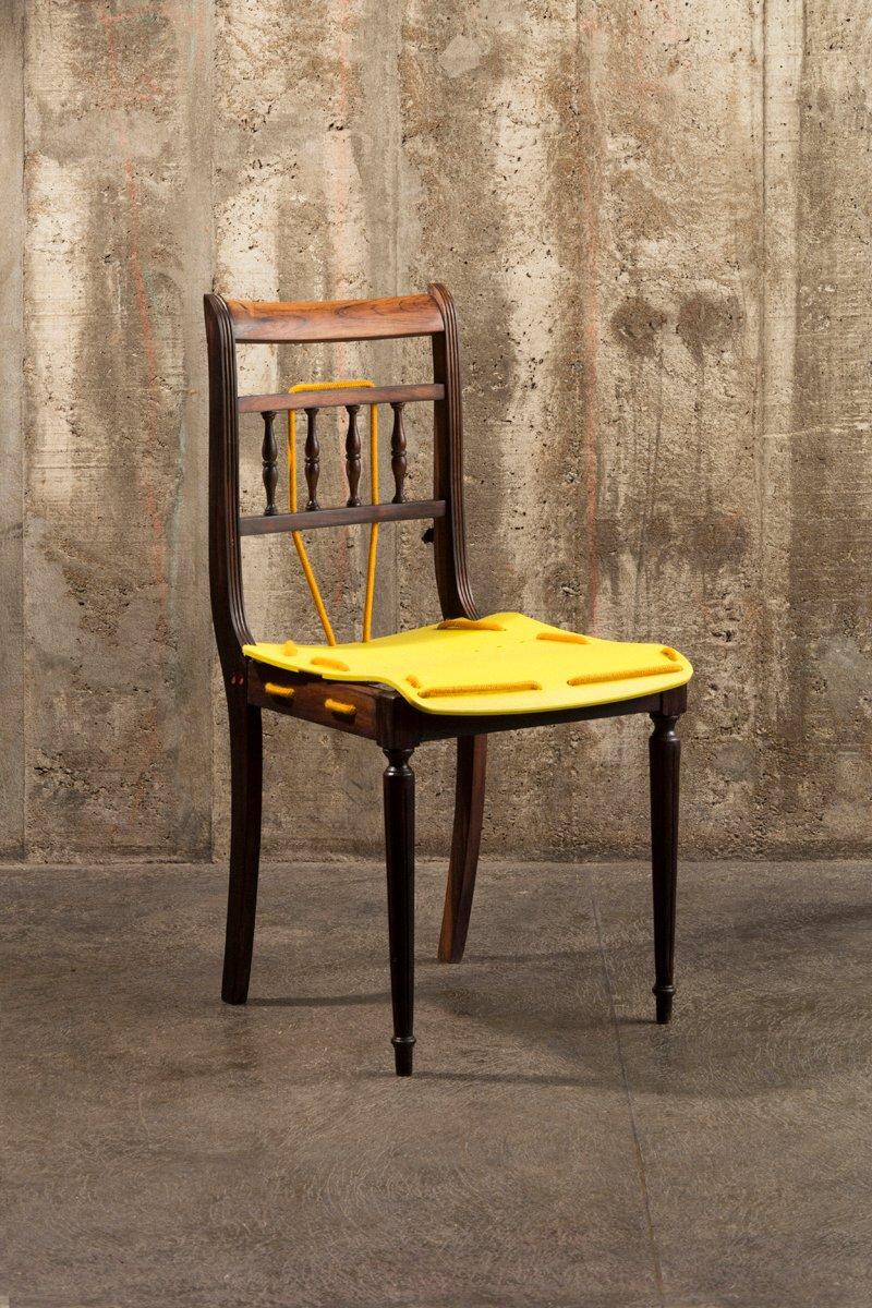 Cadeira Amarela Chair By Paulo Goldstein Studio