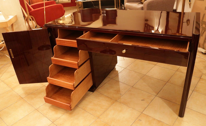 modernist art deco mahogany desk 1930s - Mahogany Desk