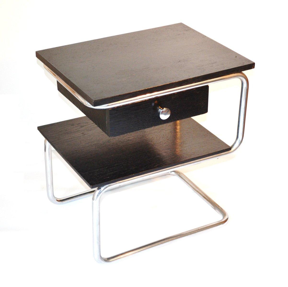 table de nuit style bauhaus par paul schuitema pour d3 rotterdam 1935 en vente sur pamono. Black Bedroom Furniture Sets. Home Design Ideas