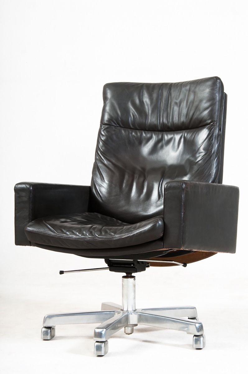 leder schreibtischstuhl 1960er bei pamono kaufen. Black Bedroom Furniture Sets. Home Design Ideas