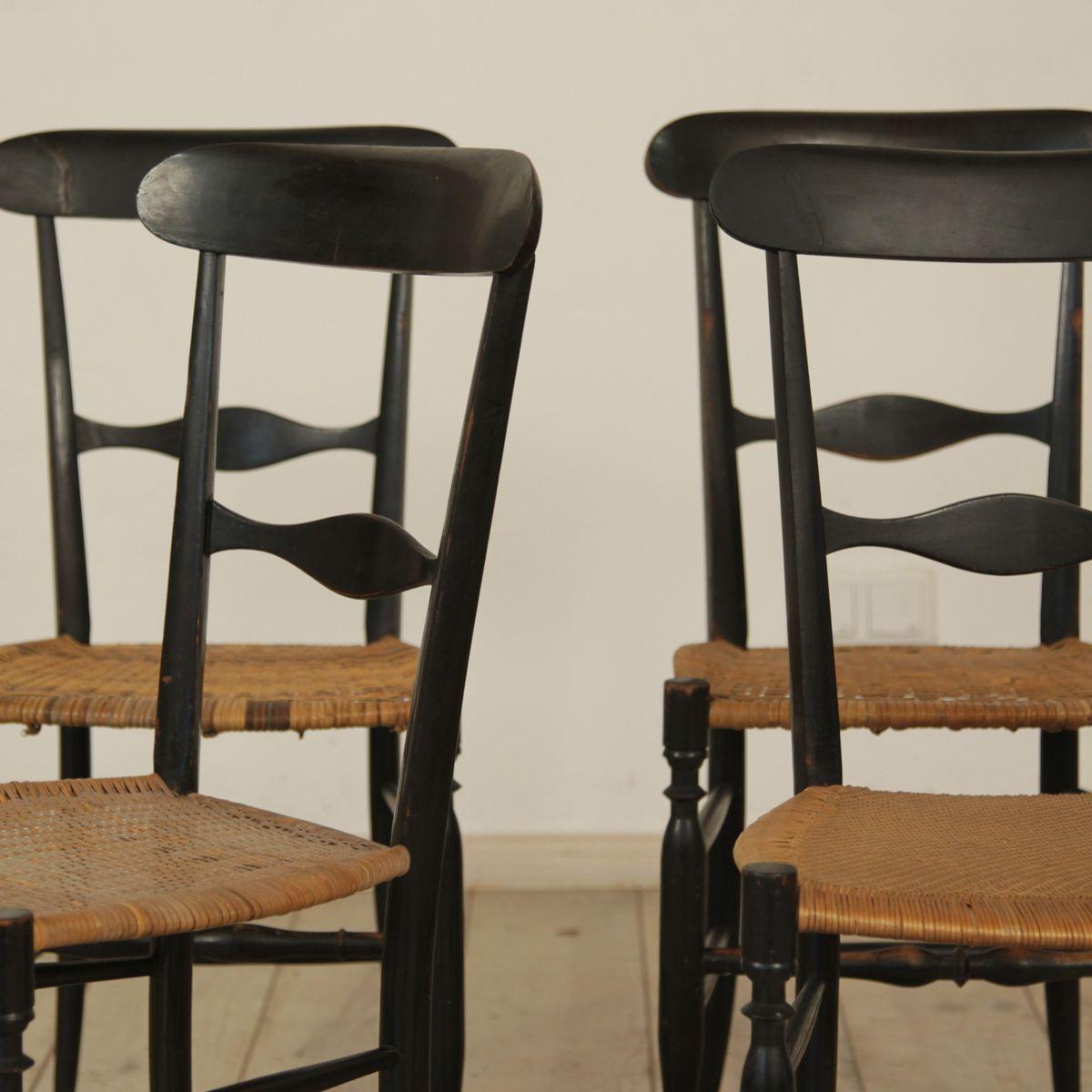 italian wicker dining chairs by chiavari legerissima set