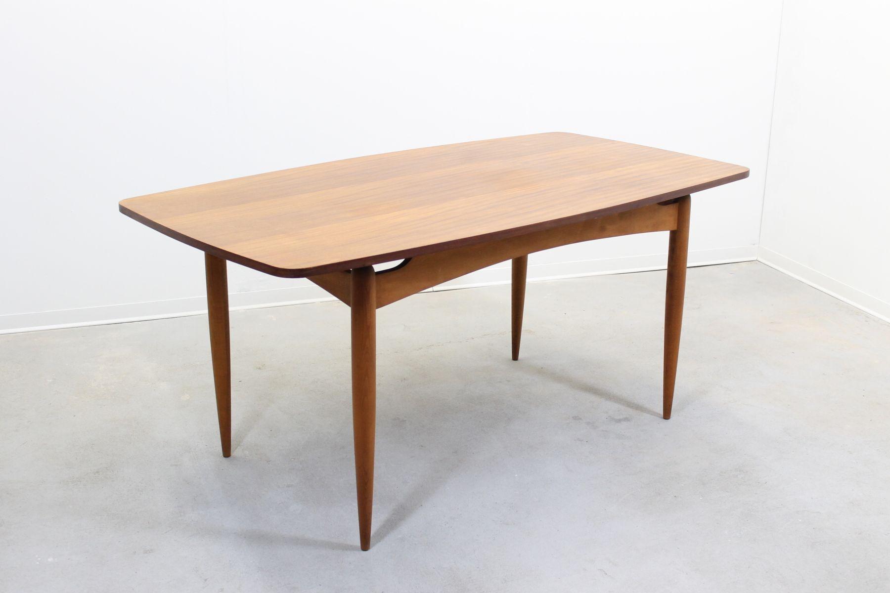 Danish Midcentury Teak Veneer Dining Table for sale at Pamono : danish midcentury teak veneer dining table 1 from www.pamono.com size 1800 x 1200 jpeg 83kB