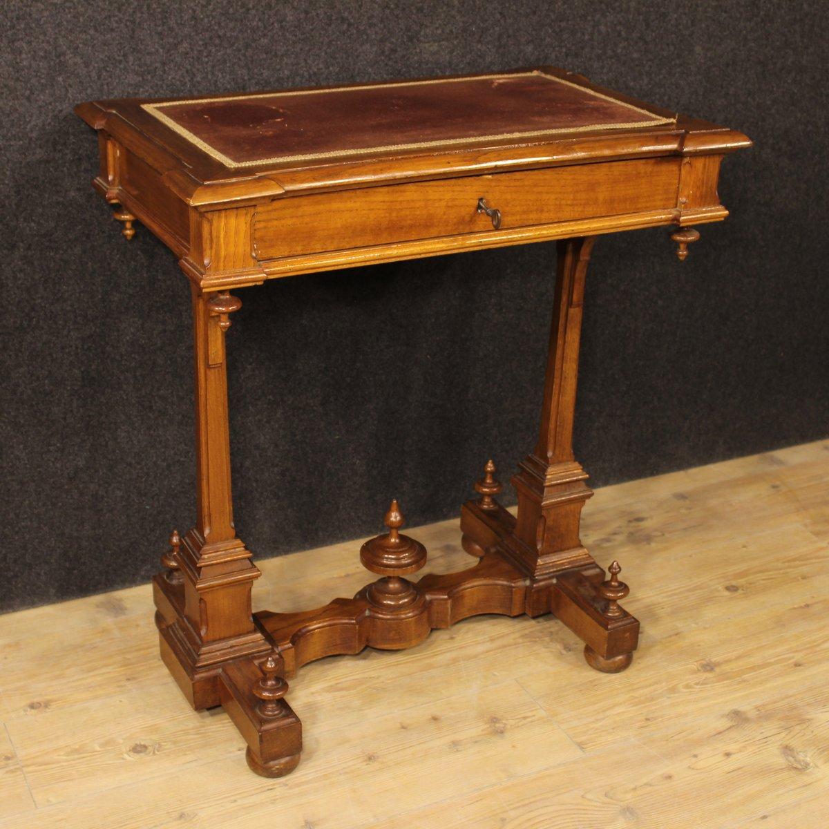 antique italian carved cherry desk