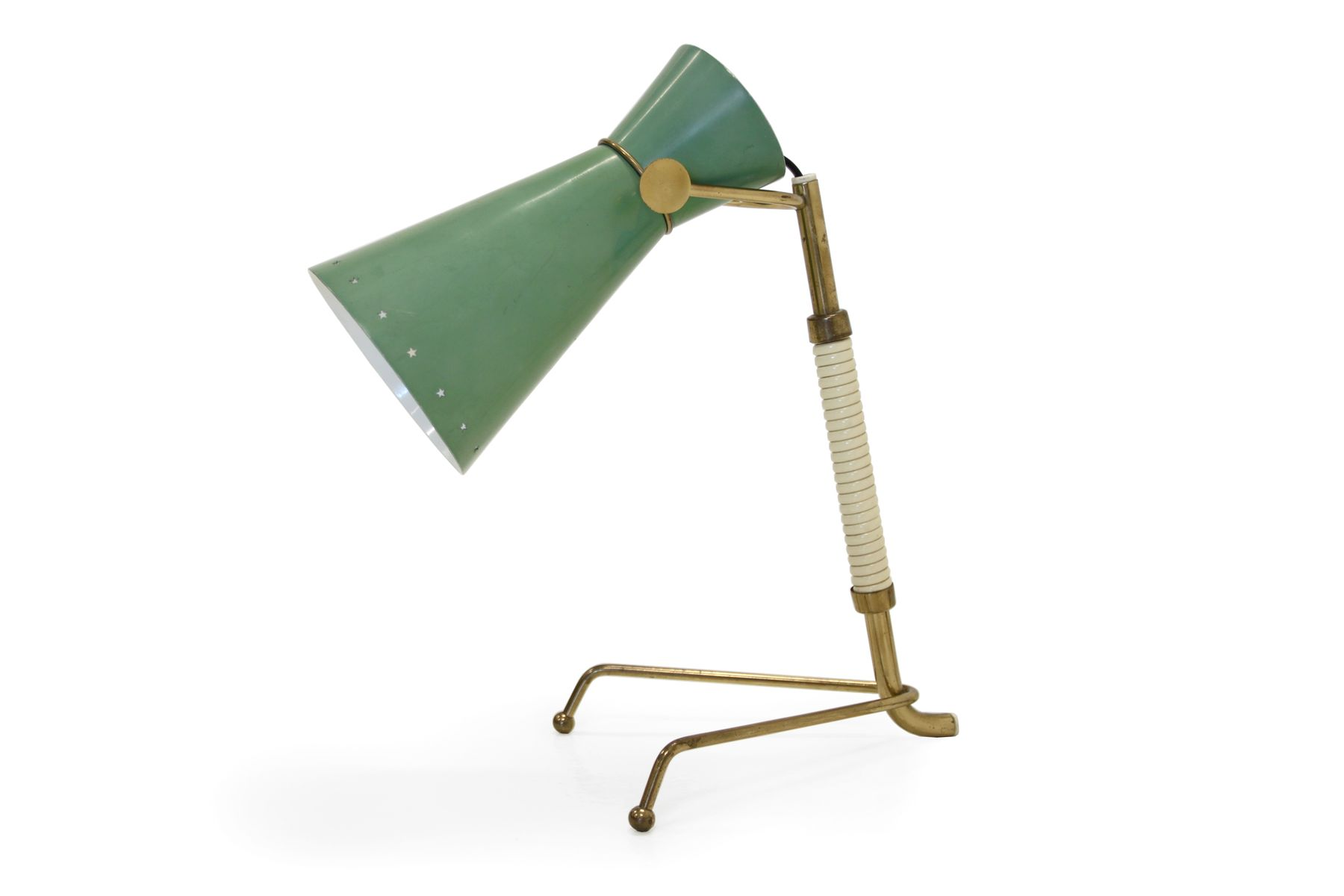 Green Table Lamp By Arnold Wiigs 1950s For Sale At Pamono