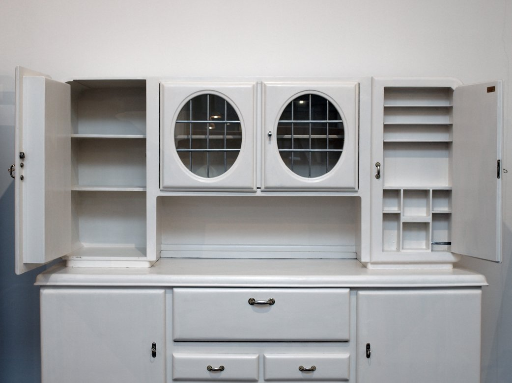 deutsches vintage k chen highboard 1930er bei pamono kaufen. Black Bedroom Furniture Sets. Home Design Ideas