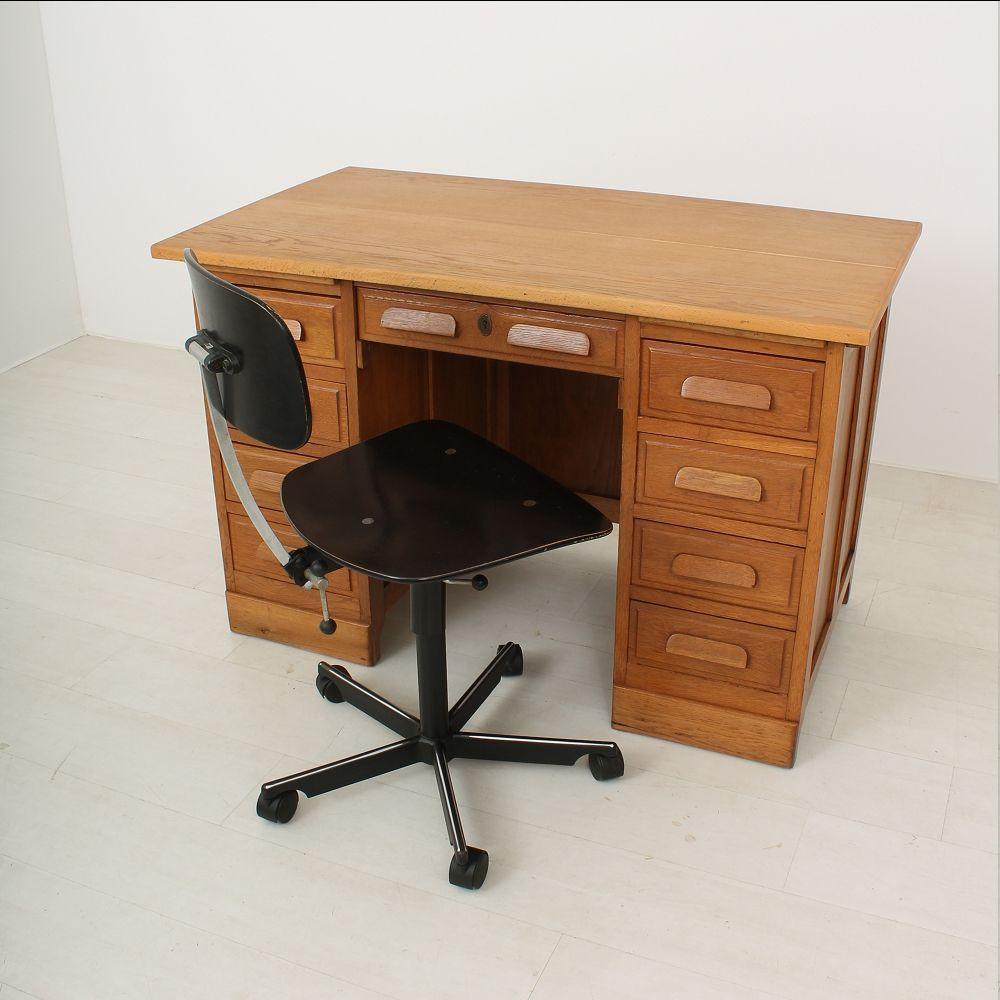 Oak Desk With Drawers ~ Drawer oak desk s for sale at pamono