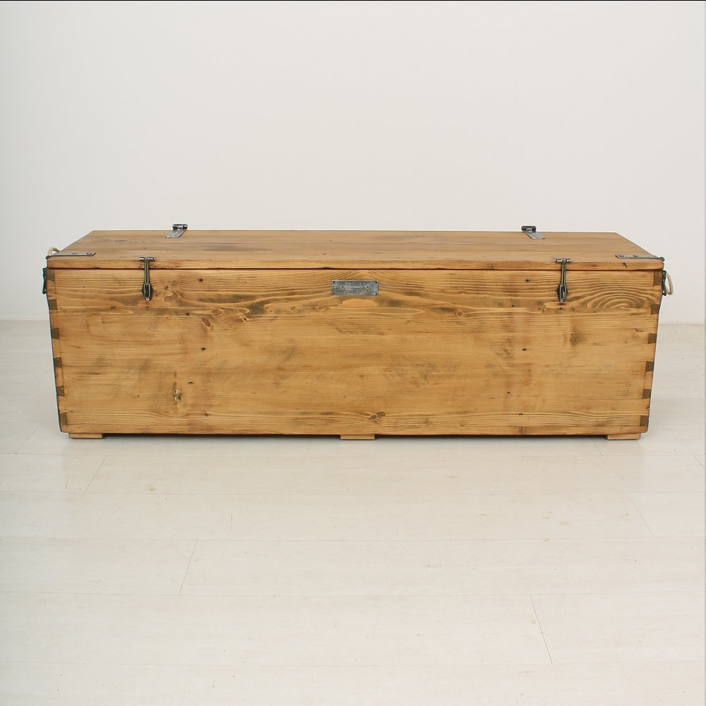 Antique wooden storage bench 1900s for sale at pamono Wooden bench for sale