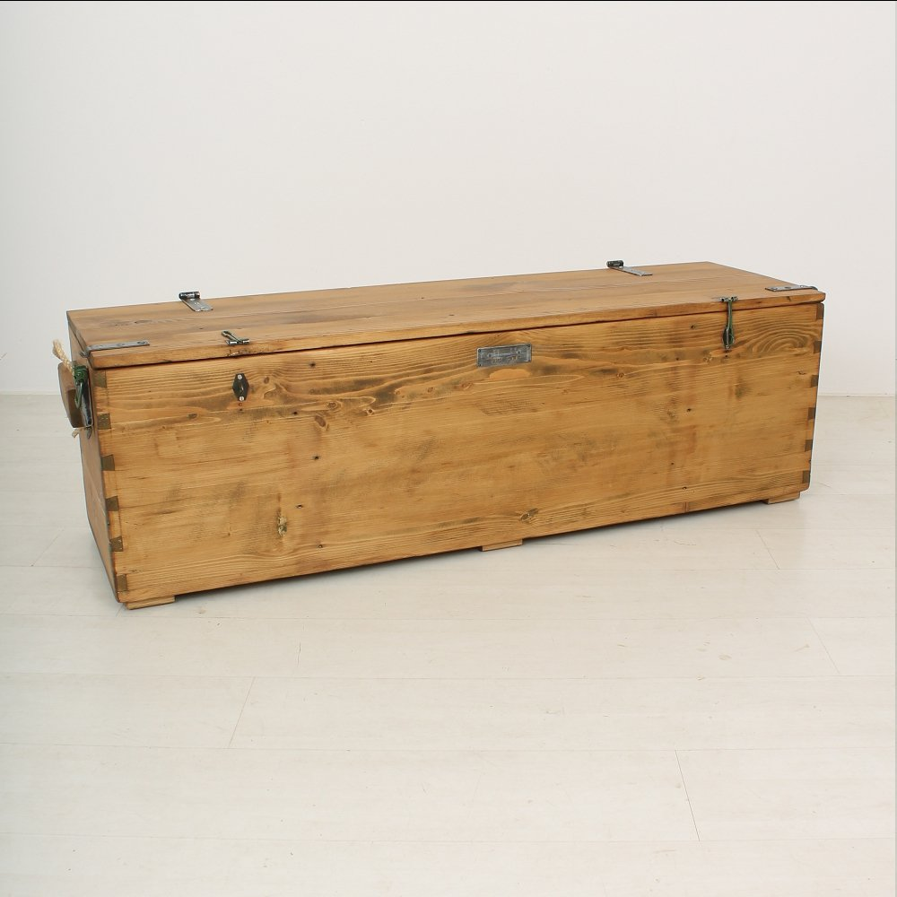 Antique Wooden Storage Bench 1900s For Sale At Pamono