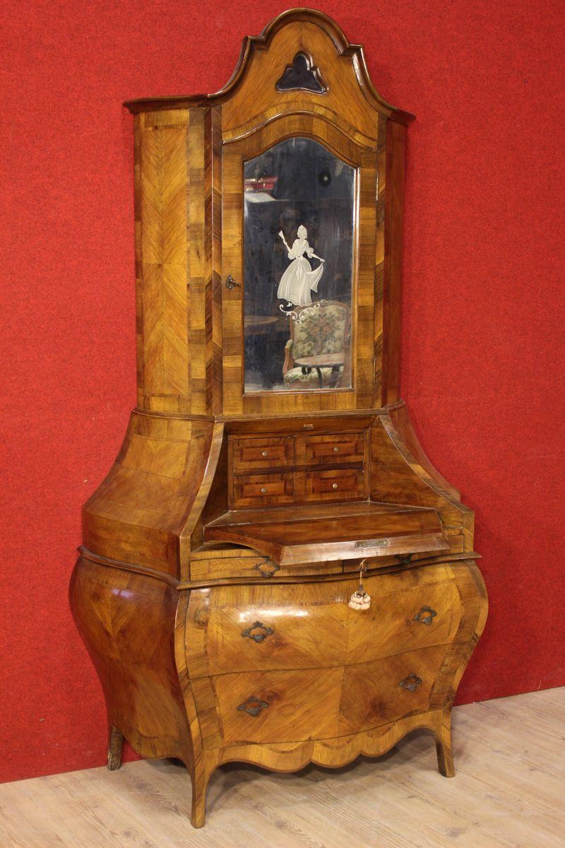 Vintage venetian walnut bureau for sale at pamono for Bureau for sale