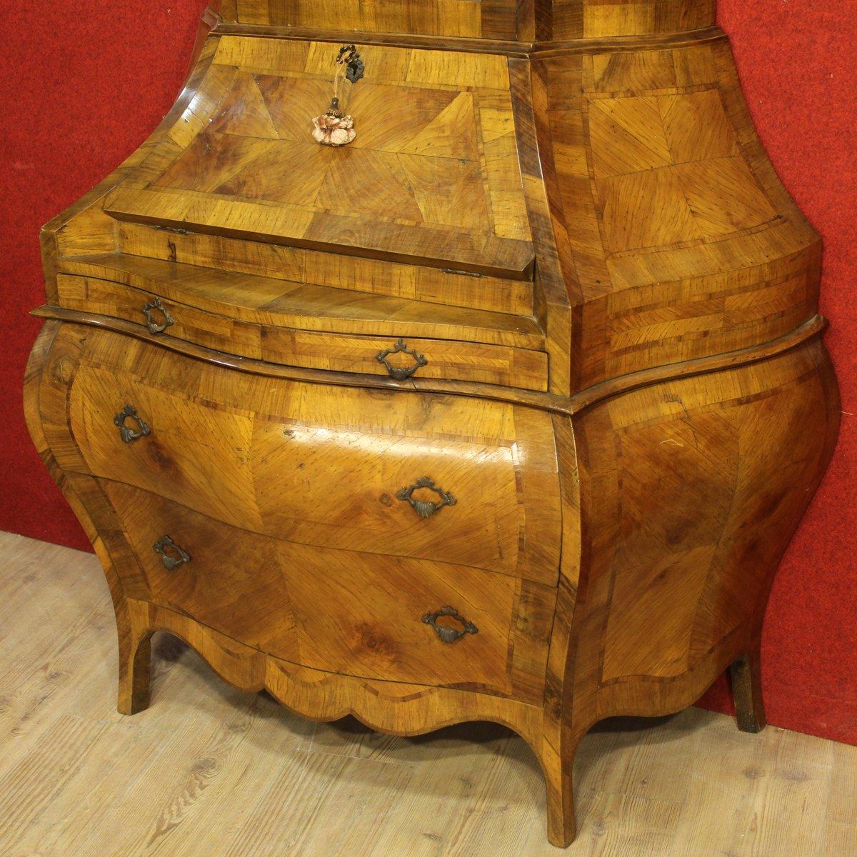 vintage venetian walnut bureau for sale at pamono. Black Bedroom Furniture Sets. Home Design Ideas