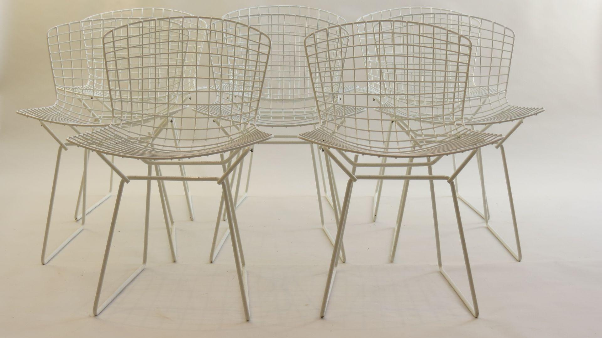 wei e st hle von harry bertoia f r knoll international 8er set bei pamono kaufen. Black Bedroom Furniture Sets. Home Design Ideas