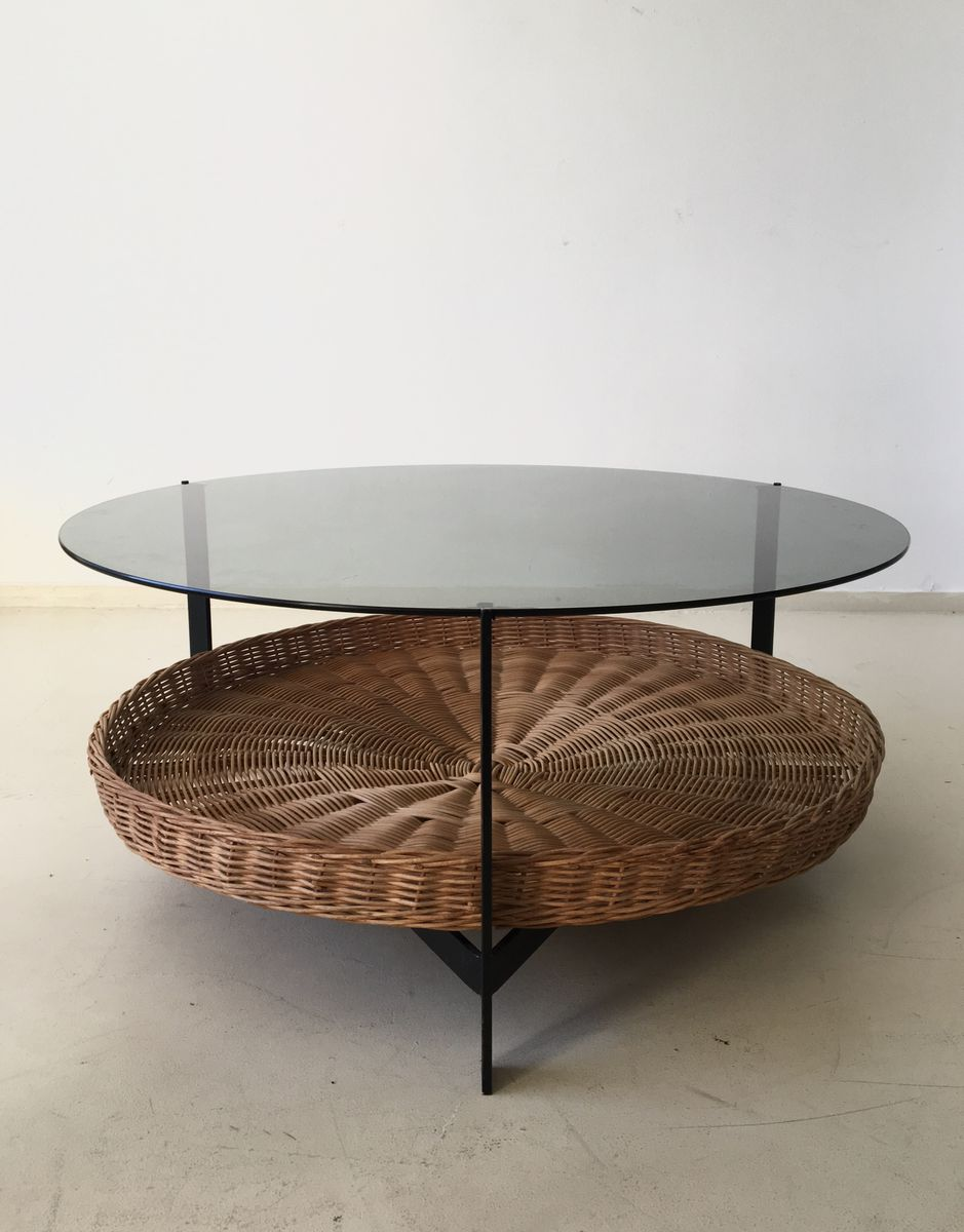 Mid Century Coffee Table With Magazine Rack For Sale At Pamono