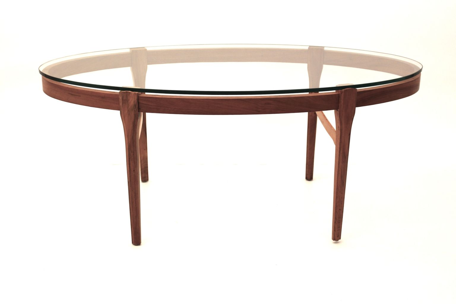 Viennese Walnut And Glass Coffee Table 1970s For Sale At Pamono
