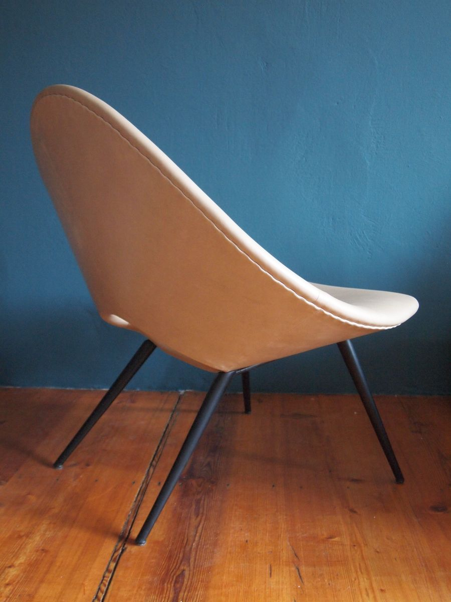 lounge stuhl von augusto bozzi f r saporiti 1950er bei pamono kaufen. Black Bedroom Furniture Sets. Home Design Ideas