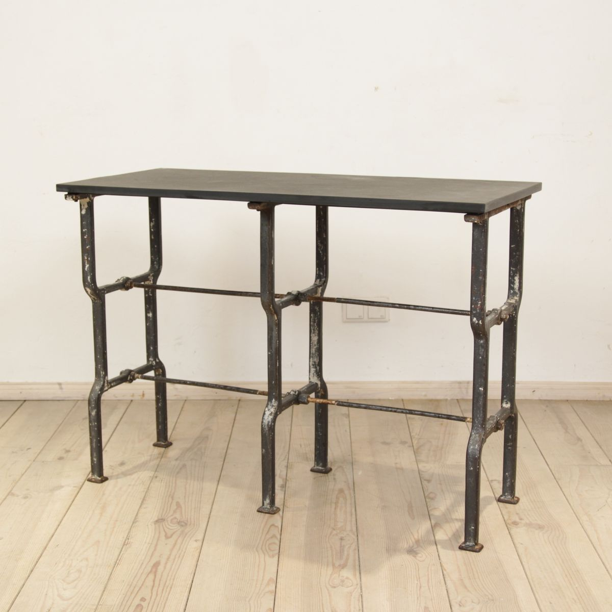 Slate topped metal console table 1930s for sale at pamono Metal console table