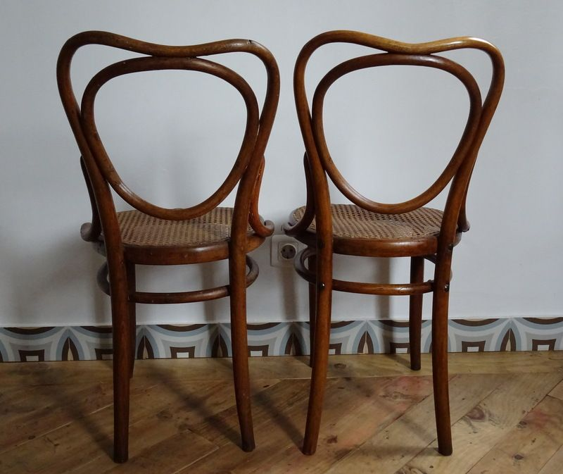 french vintage bistro chairs set of 2 - Bistro Chairs