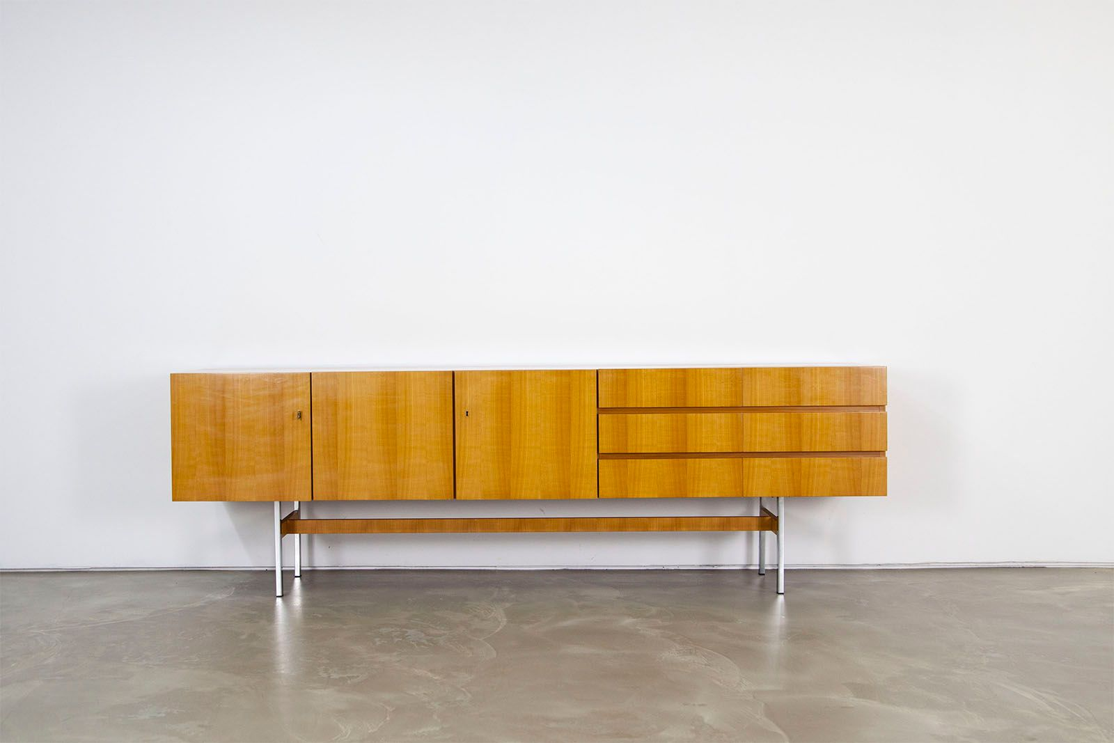 mid century cherry sideboard from musterring 1960s for sale at pamono. Black Bedroom Furniture Sets. Home Design Ideas