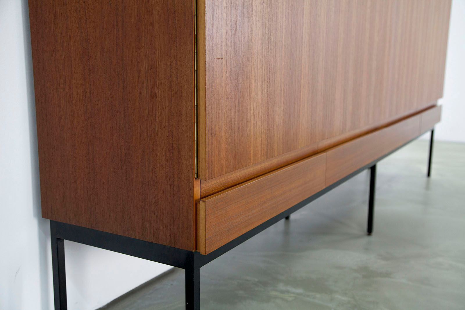 mid century b60 teak highboard by dieter waeckerlin for. Black Bedroom Furniture Sets. Home Design Ideas