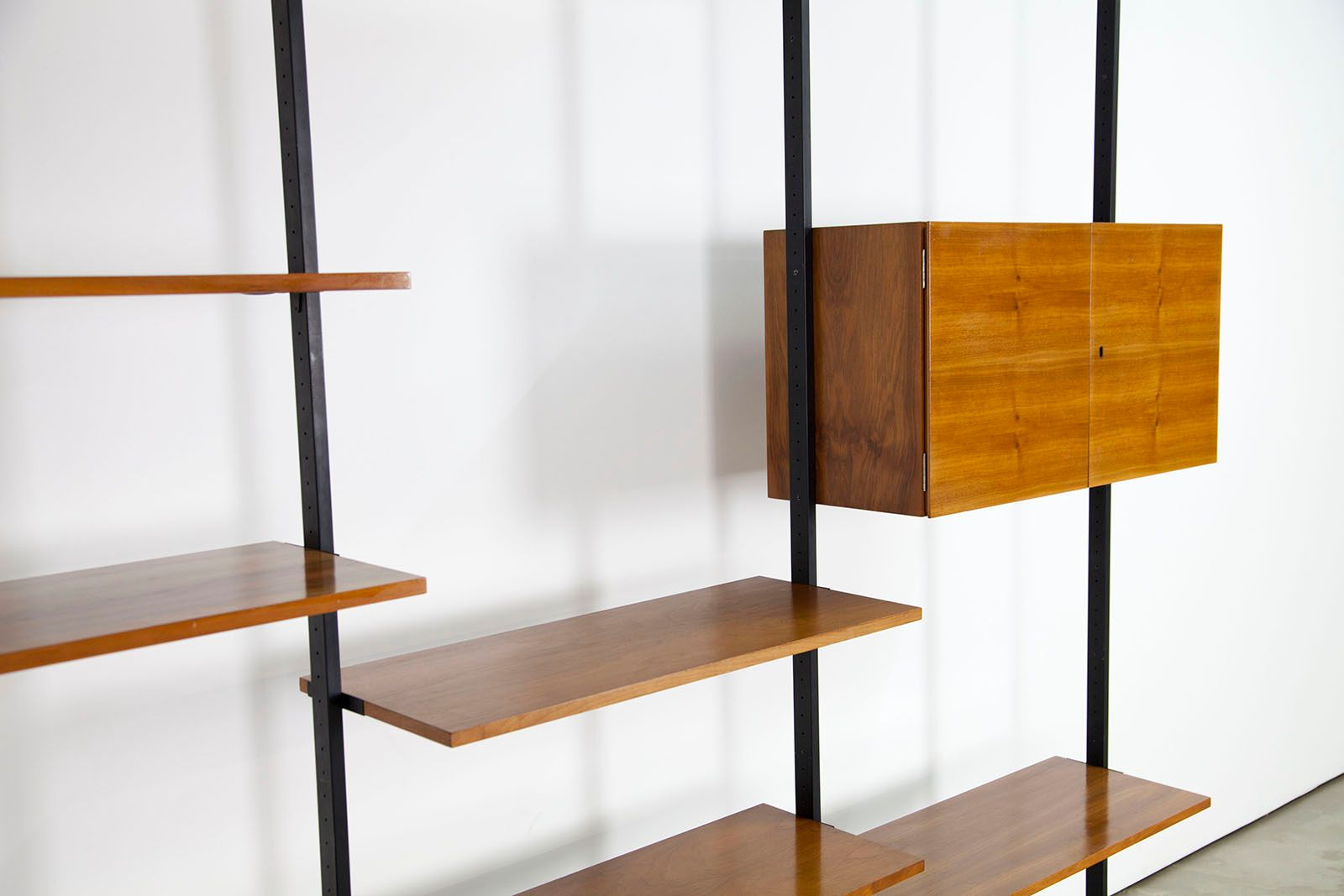 midcentury walnut shelving unit by up wieser for wohnbedarf for  - price per piece