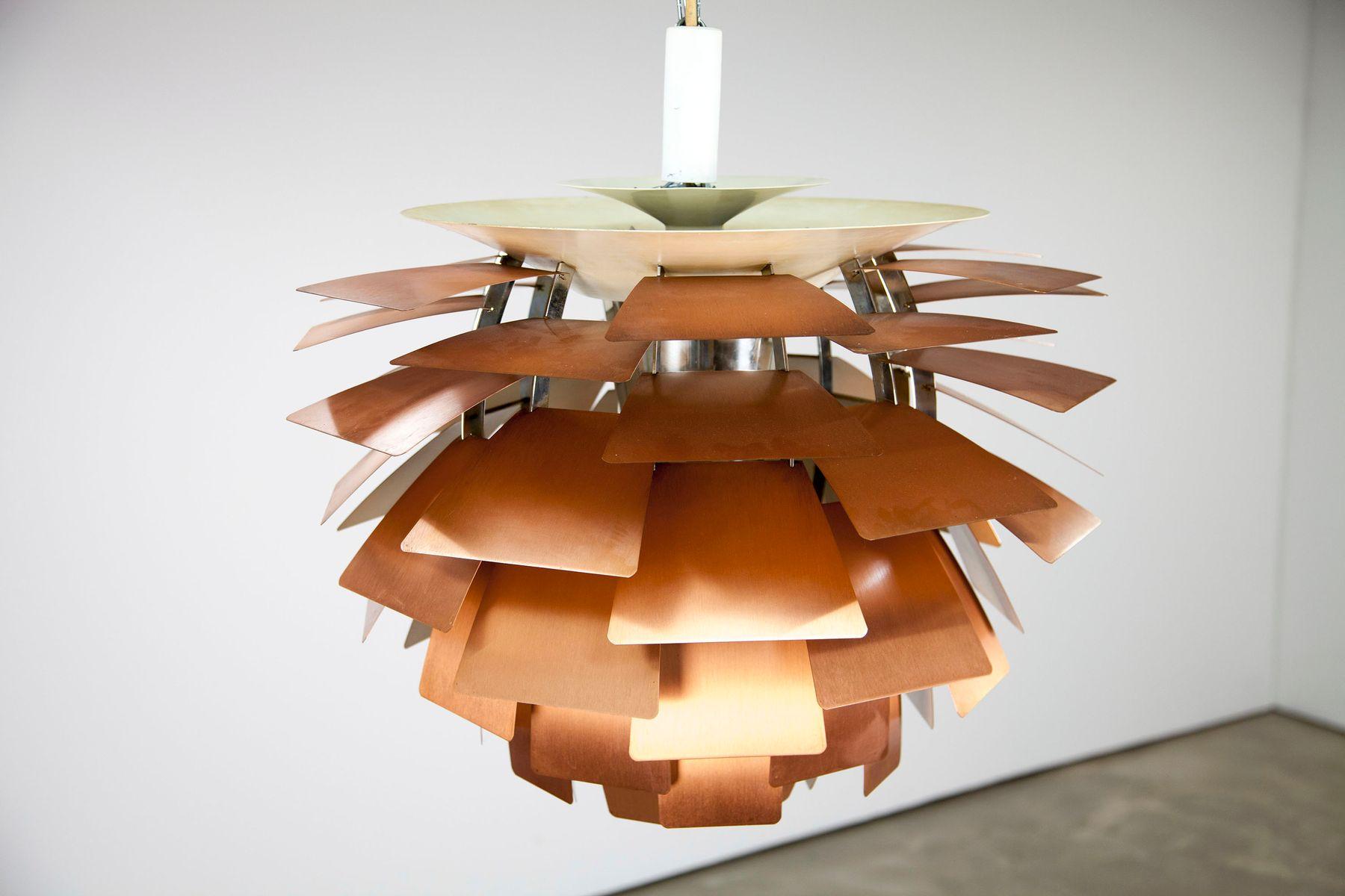 vintage ph artichoke deckenlampe aus kupfer von poul henningsen f r louis poulsen 1960er bei. Black Bedroom Furniture Sets. Home Design Ideas