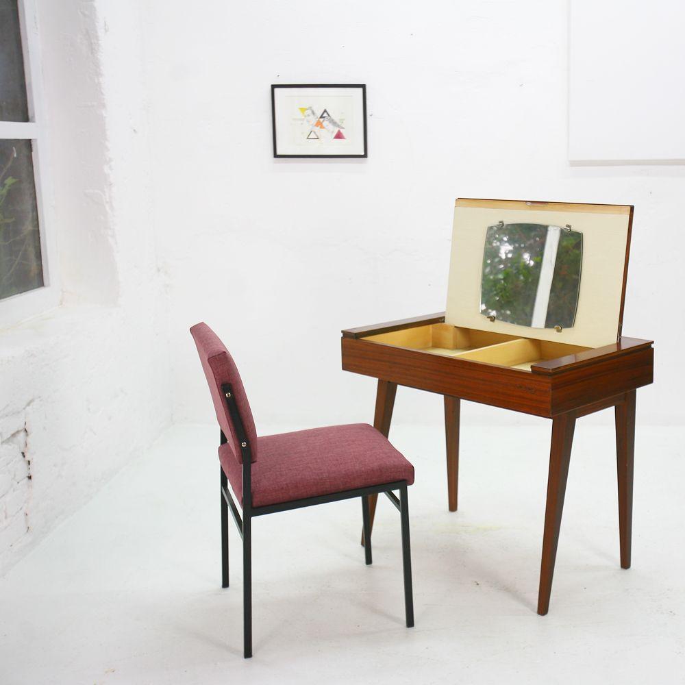 frisiertisch aus palisander mit spiegel 1950er bei pamono kaufen. Black Bedroom Furniture Sets. Home Design Ideas