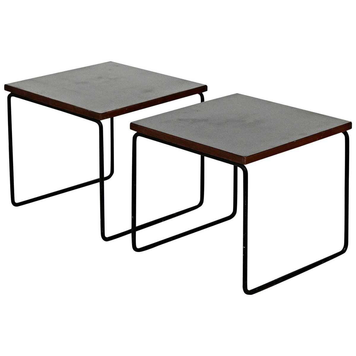 french side tables by pierre guariche for steiner 1950s. Black Bedroom Furniture Sets. Home Design Ideas