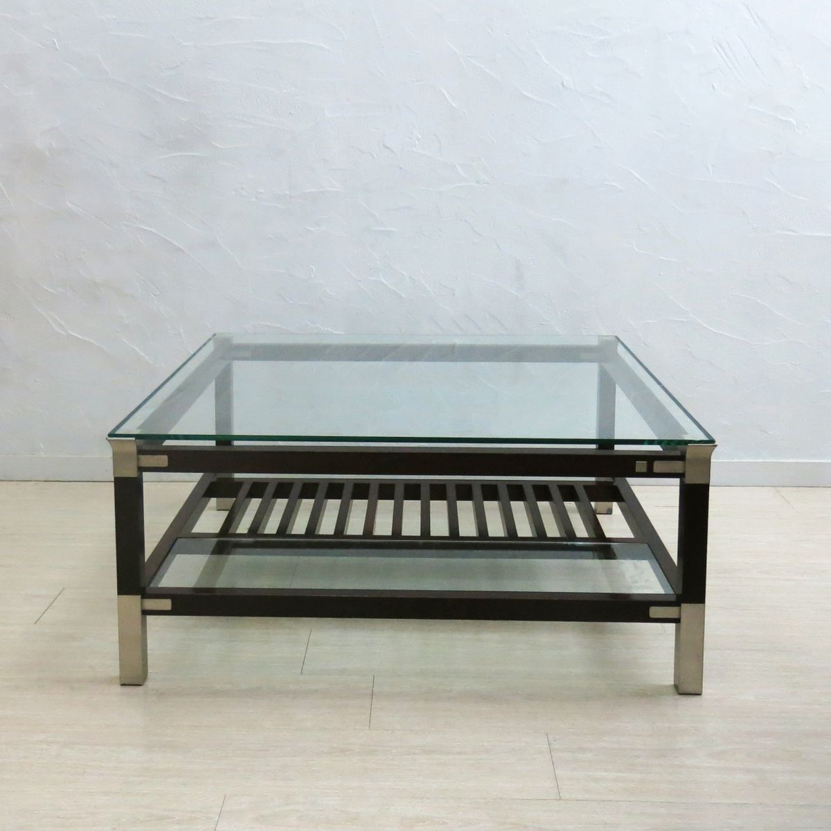 Coffee Table With Glass Top By Pierre Vandel For Sale At