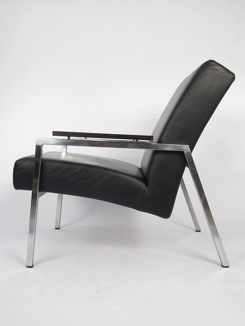 lounge stuhl aus schwarzem leder von de ster gelderland bei pamono kaufen. Black Bedroom Furniture Sets. Home Design Ideas