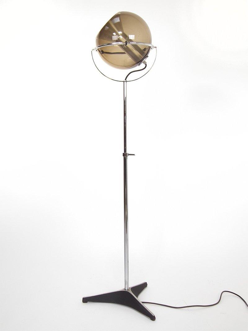 Vintage globe floor lamp by frank ligtelijn for raak for for Retro globe floor lamp