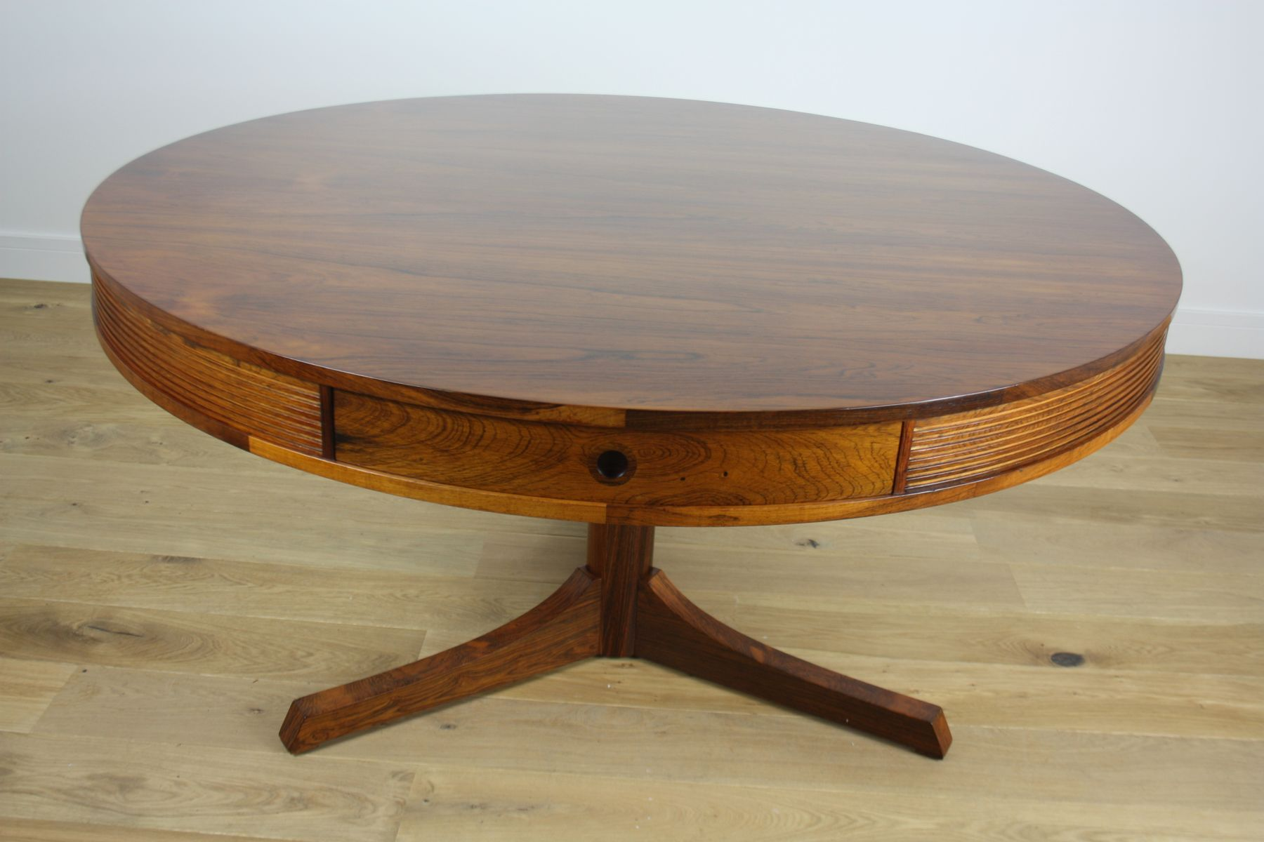 rosewood drum table by robert heritage for archie shine 1960 for