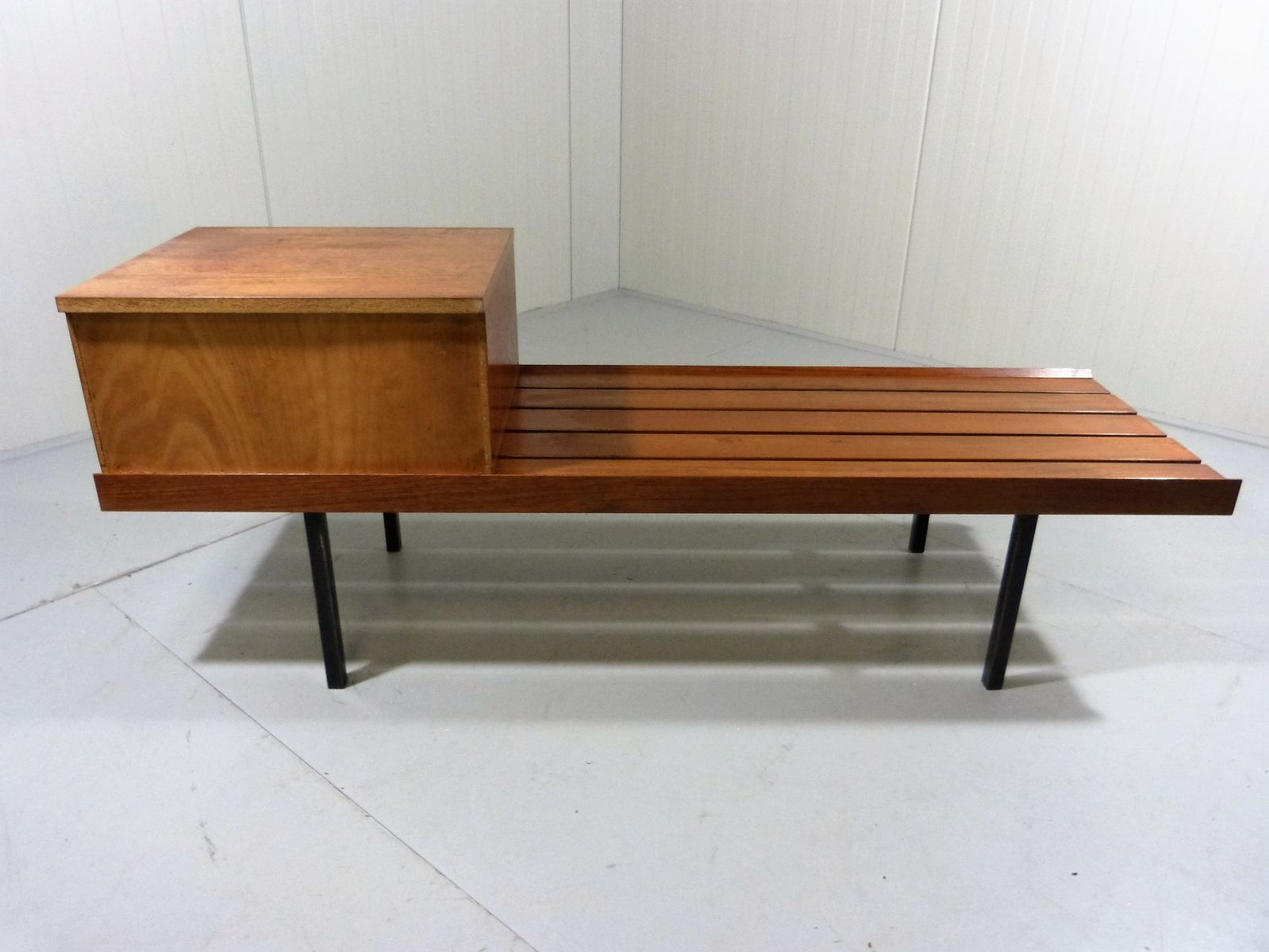 Vintage Teak Bench With Drawers For Sale At Pamono