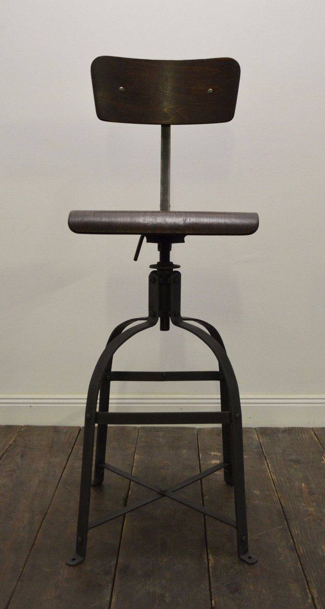 Industrial chair from bienaise for sale at pamono for Chaise industrielle