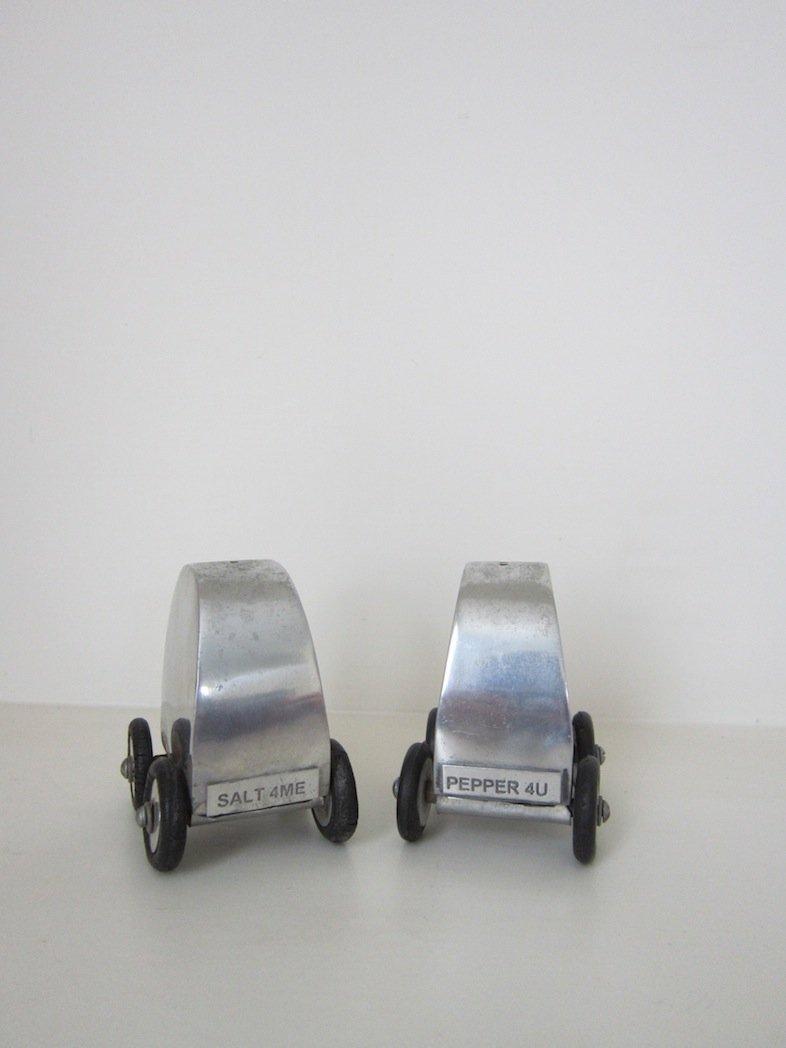 Novelty Car Salt Pepper Shakers 1960s Set Of 2 For
