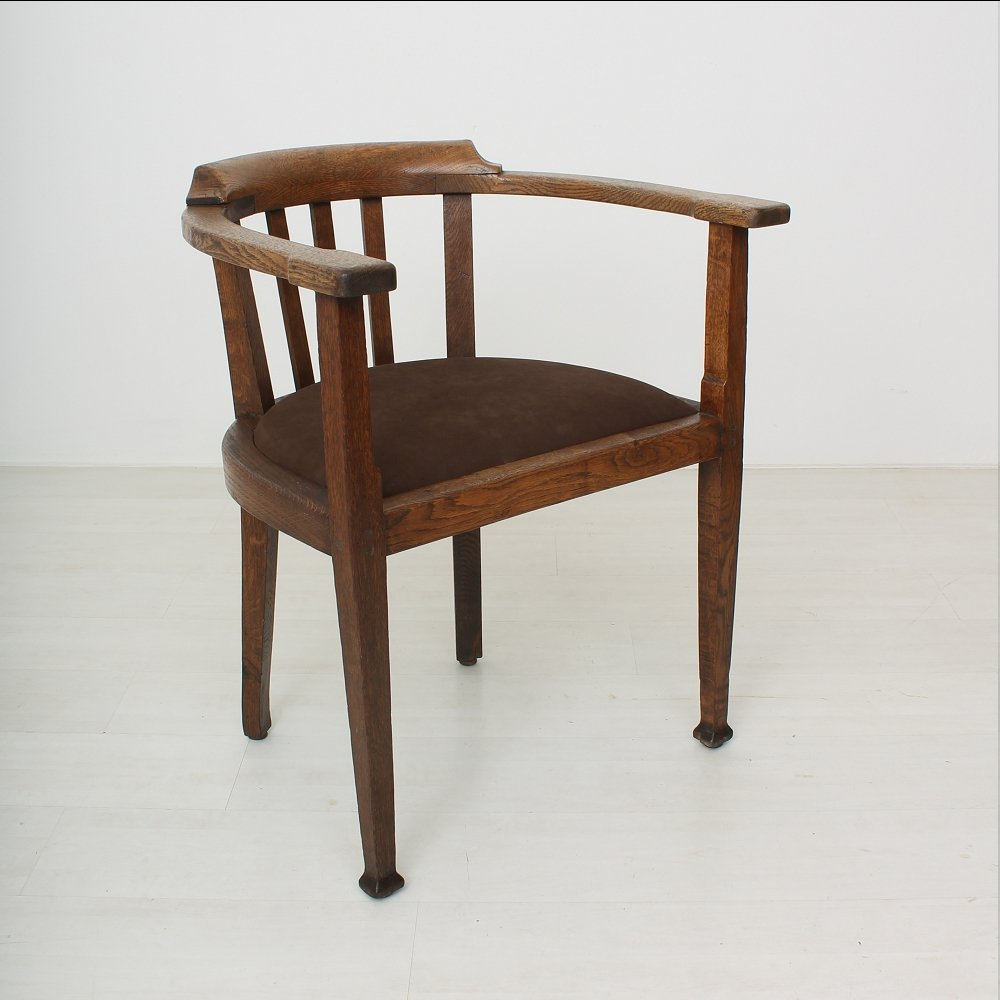 Vintage Nicolai Oak Armchair 1920s For Sale At Pamono