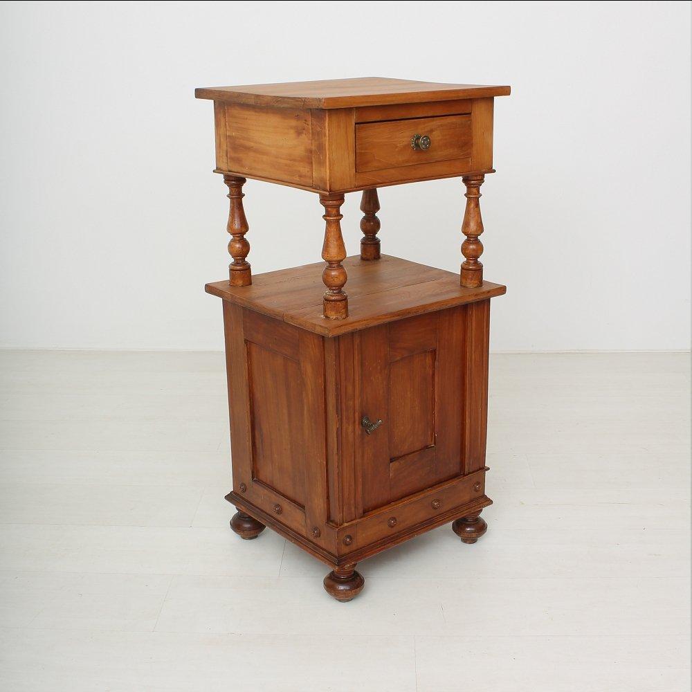 petite table de chevet antique en m risier 1890s en vente sur pamono. Black Bedroom Furniture Sets. Home Design Ideas
